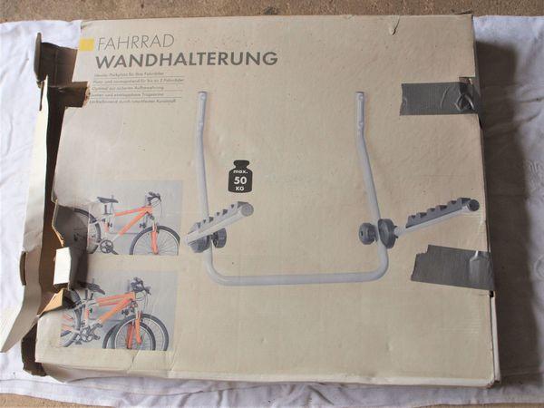 Fahrrad-Wandhalter für zwei Fahrräder - unbenutzt