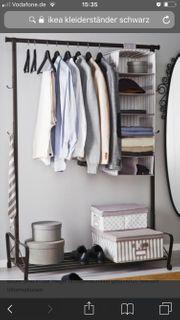 Vintage Kleiderständer Garderobe schwarz
