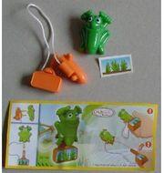 Ü-Ei Figur grüner Grashüpfer Frühlingshüpfer