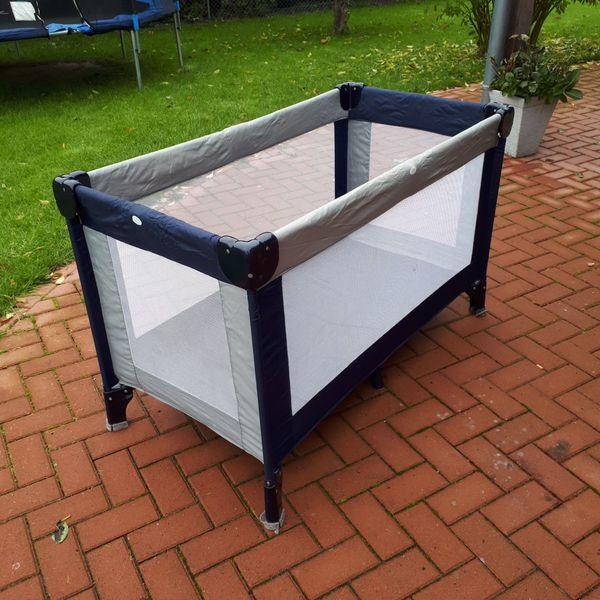 Kinder Reisebett - blau silber - 120