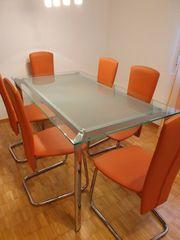 Küchenesstisch mit 6 Stühlen