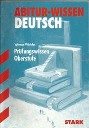 Abitur-Wissen-Deutsch Prüfungsvorbereitung Oberstufe