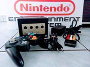 Nintendo Gamecube schwarz komplett
