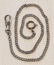 Alte Taschenuhrenkette Messing 37 cm