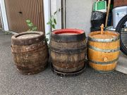 3 alte Holzfässer Bierfässer