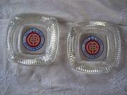2 Glasaschenbecher Aschenbecher aus Glas