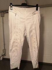 Capri-Leggings-Hose Gr 46 weiß CANDA-Premium
