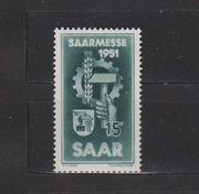 Postfrische Briefmarke Saarmesse 1951