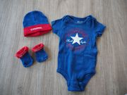 Converse Baby-Set Söckchen Mütze Body