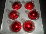 5 Pakete Weihnachtskugeln rot in
