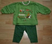 SET - Grünes Sweat-Shirt Leggings - Größe 74