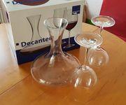 Weingläser Dekanter