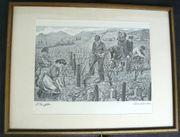 Strieffler Heinrich Rebenschneiden Serigrafie B068