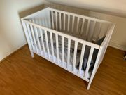 Kinderbett Baby Kleinkinder Holz 70x125cm -