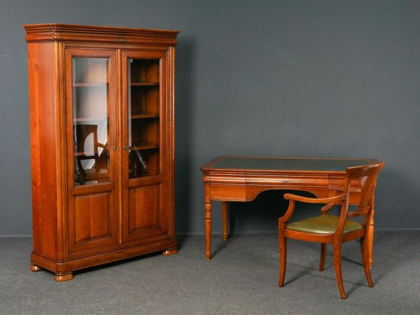 Bücherschrank Schreibtisch Stuhl Büro Biedermeier