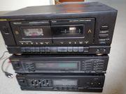 Stereoanlage mit Kassettendeck Verstärker und