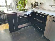 Einbauküche schwarz hochglanz mit Siemens