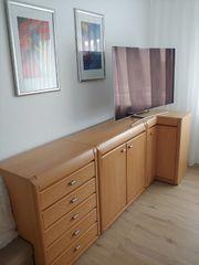 Schlafzimmer Kommode 3-teilig Esche terra