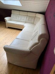 Ledercouch mit Sessel