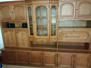 Wohnzimmereinrichtung Echt-Holz zu verschenken an