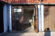 Große abgeschlossene Garage als Hobbywerkstatt