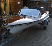 Sportboot Teakholz-Mahagoni-GFK Bj 65 mit