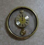Goldfarbene Royal Quarz Uhr Wanduhr
