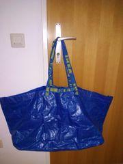 Verkaufe blaue Plastick Tasche