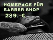 Barber Shop Webseiten Homepage nur