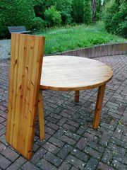 Schöner runder Massivholztisch ausziehbar 117