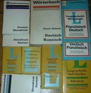 12 Wörterbücher gebr DDR Langenscheidt