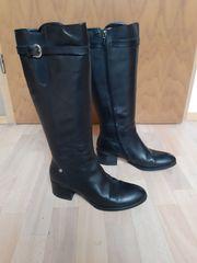 GEOX Stiefel schwarz Leder Gr