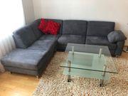 Moderne Eck - Couchgarnitur grau - TOP