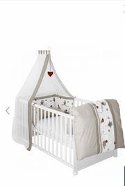 Kinderbett Babybett 4-teilig WIE NEU