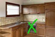 Küche mit Kühlschrank and Eckbank