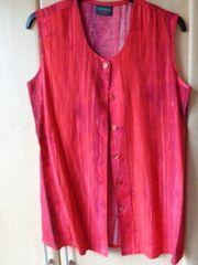 Vintage Bluse ärmellos lange Form