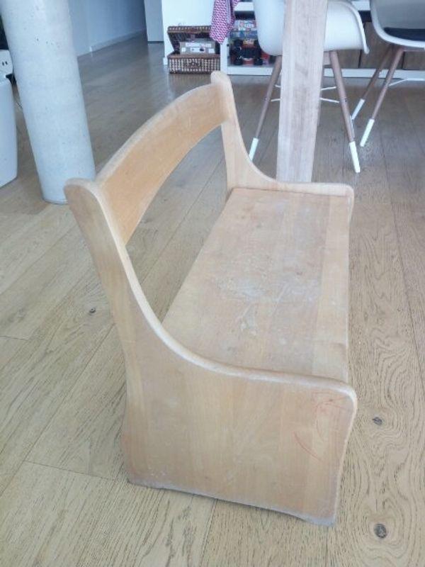 Kinder Sitzbank mit Truhe Vollholz