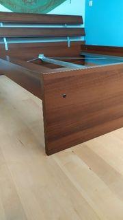 braunes Doppelbett von IKEA 180x200