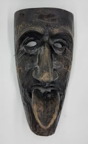 Wandmaske aus Holz
