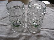 2x Bierkrug Maßkrug Krug Glas