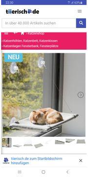 Fensterhängematte für Katzen