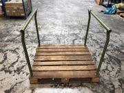 Stapelbare Rungenpalette Regalpalette 120x100 cm