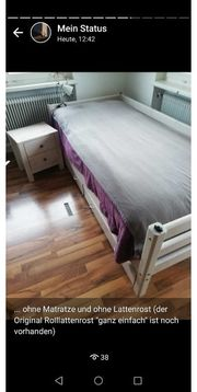 RESERVIERT Bett und Nachtkästchen ab