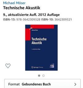 Fachbuch Technische Akustik von Michael: Kleinanzeigen aus Althengstett - Rubrik Fach- und Sachliteratur