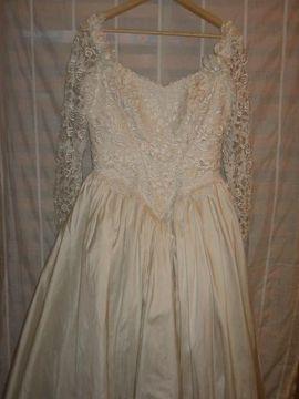 Bild 4 - Vintage Brautkleid Hochzeitskleid aus Wildseide - Eichenau