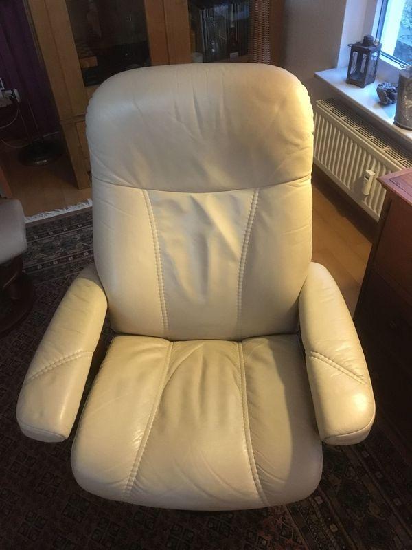 Stressless-Sessel aus Leder