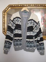 Vintage Jacke im Norwegermuster- Gefüttert