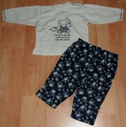 Freizeit-SET - Langarm-Shirt Hose - Größe 74 - 2teilig