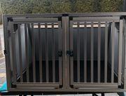 Hundetransportbox WT Metall Doppelbox