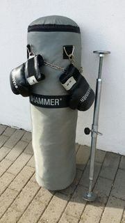 Verkaufe Boxsack mit Boxhandschuh